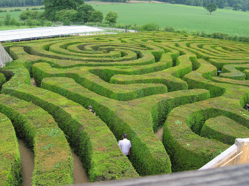Longleat Hedge Maze Photo from above